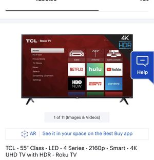 """TCL 55"""" 4K Roku TV for Sale in Walton Hills, OH"""
