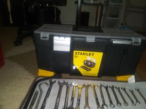 STANLEY TOOL BOX AND TOOLS for Sale in Vancouver, WA