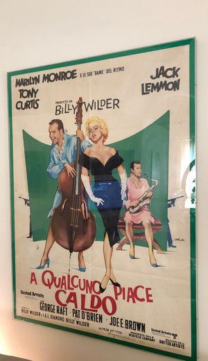 "Original Marilyn Monroe R-1970 framed Some Like It Hot movie poster 39"" x 55"" for Sale in Oakland Park, FL"