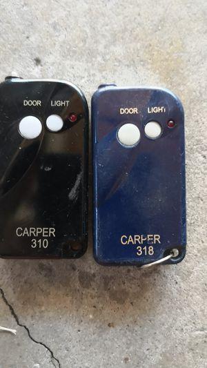 Carper 310 and 318 garage door opener remote for Sale in Downey, CA