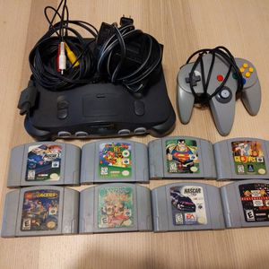N64 with C ontroller and 8 Games for Sale in Phoenix, AZ