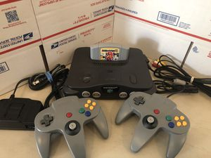 Nintendo 64, N64 System / Console Bundle + Cables + 2 Controllers+ Mario Party 3 for Sale in Struthers, OH
