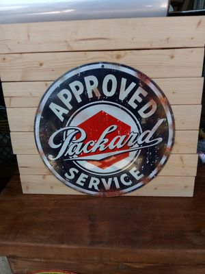 "Packard Service Metal Sign 14"" round for Sale for sale  San Diego, CA"