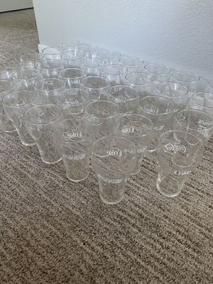 Collection of 34 antique Coca Cola glasses Mint condition for Sale in Folsom, CA