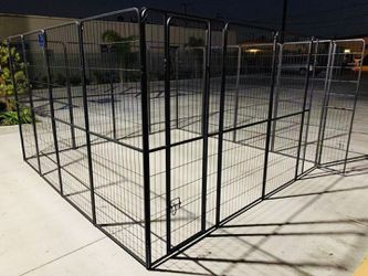 New 72 inch tall x 32 inch wide each panel x 16 panels heavy duty exercise playpen adjustable fence safety gate dog cage crate kennel for Sale in South El Monte,  CA