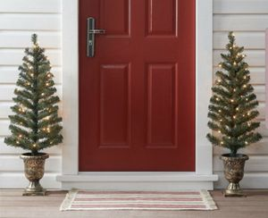 Set of 2 NEW Christmas trees. For outdoor entryway/ indoor decoration. for Sale in Los Angeles, CA