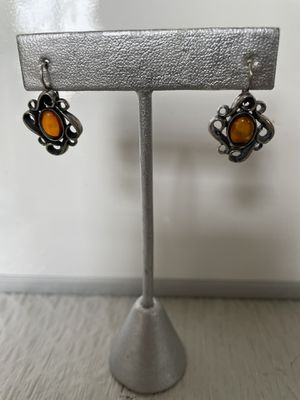 Amber Baltic silver earrings for Sale in Plainfield, IL