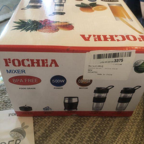 Smoothie Blender, Fochea 3 In 1 Food Processor Multi-Function Kitchen Mixer System, 700W High Speed Blender/Chopper/Grinder with 570ml BPA-Free bottl