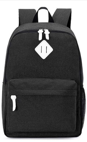 Canvas Laptop Backpack for 14 Inch (Black) for Sale in Fontana, CA