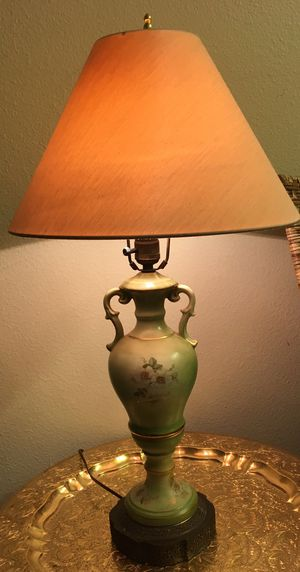 Antique Bronze Urn Lamp with Hand Painted Floral Decor for Sale in Beaverton, OR