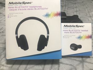 Mobile Spec Wireless Headphone and Earbud Combo for Sale in Martinsburg, WV