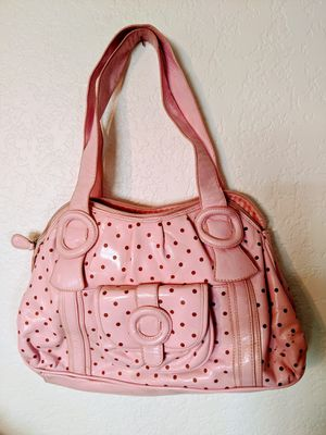 Vintage Pink Faux Patent Leather Purse Handbag for Sale in Hesperia, CA