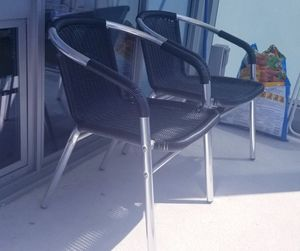 Pair of outdoor chair, heavy duty, high-end furniture for Sale in Chicago, IL