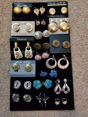 Lots of Beautiful Clip on Earrings All for 30.00 for Sale in Virginia Beach, VA