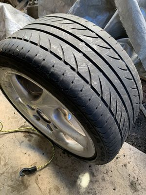 Porshe rims and close to new tires( twisted type) for Sale in Chula Vista, CA