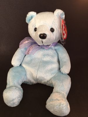 Lani the light blue bear with purple bow Ty Beanie Baby - AUTHENTIC- ORIGINAL with ERRORS for Sale in La Habra Heights, CA