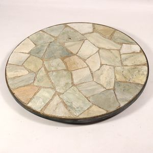 "12"" Decorative Outdoor Stone Planter Plate for Garden Flower Pots for Sale in Mesa, AZ"