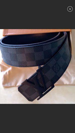 Authentic Louis Vuitton Damier Grahite Belt for Sale in East Palo Alto, CA