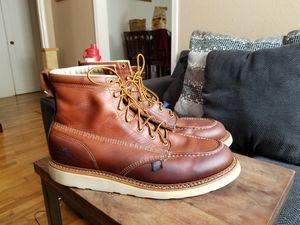 Size14D Thorogood Leather soft toe work boots for Sale in San Jose, CA