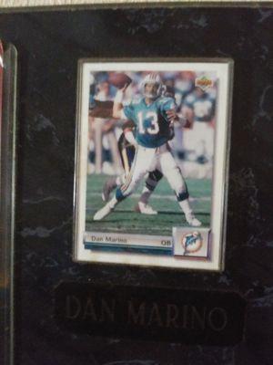 Dan Marino baseball card and plaque for Sale in Auburndale, FL