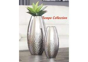 NEW, Dinesh Silver Vase (Set of 2), SKU# A2000355 for Sale in Westminster, CA