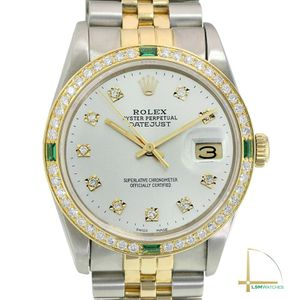 Rolex Datejust 16233 Two-Tone 36mm Mens Silver Diamond Dial & Bezel Watch for Sale in Long Beach, CA