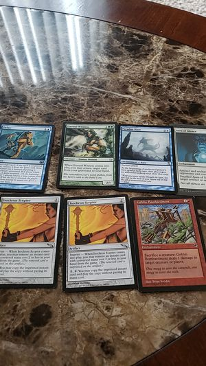 Magic the gathering cards, mtg,isochron scepter,delay,aura of silence, goblin bombardment for Sale in Pataskala, OH