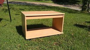 Wooden printer table on wheels for Sale in Jefferson City, MO