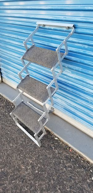 Aluminum folding 3 step scissor steps. for Sale in Phoenix, AZ