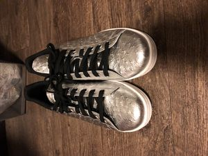 Stan Smith silver adidas shoes for Sale in Maize, KS