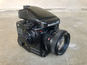 Mamiya 645 Pro TL, 80mm f/2.8 lens, AE finder, two 120 film backs, great condition for Sale in Glendale, CA
