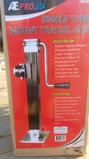 2 8000 lb tube mount trailer jack for Sale in South Gate, CA