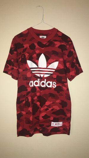Bape X Adidas Adicolor Tee Raw Red Camo for Sale in Montclair, CA