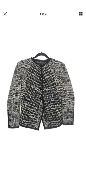 Vintage Saint Laurent Rive Gauche Womens Size 40 US 10 Wool Printed Blazer for Sale in San Bernardino, CA