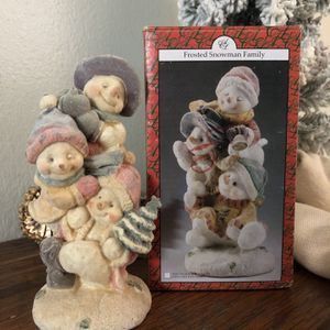 Vintage Artmark Frosted Snowman Family - With Box SHIPPING AVAILABLE! 📦 for Sale in Largo, FL
