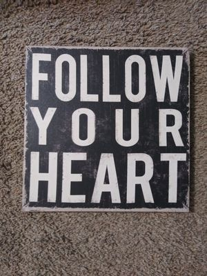 Follow Your Heart Canvas for Sale in Selma, NC