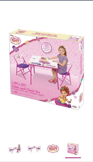Fancy Nancy Kids Table with 2 chairs for Sale in Chicago, IL
