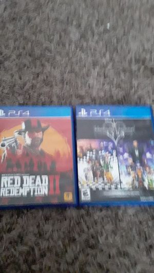 Ps4 Red Dead 2 and kingdom hearts for Sale in TEMPLE TERR, FL