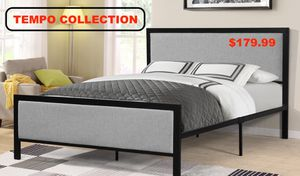 Metal Queen Platform Bed Frame with Headboard, 7599 for Sale in Downey, CA
