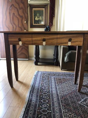 Kyle Dallman Studio Furniture wood console table - solid walnut and zebrawood hall table - Zed - hand carved - MSRP $2950 for Sale in Glendale, CA