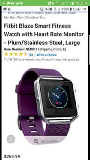 Fitbit Blaze Smart Fitness Watch for Sale in Little Rock, AR