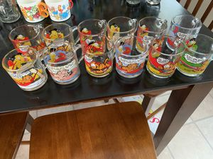 Garfield collectible glasses for Sale in Angier, NC