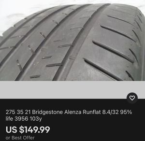 275 35 21 Bridgestone Alenza Runflat 8.4/32 95% life 3956 103y for Sale in Miami, FL