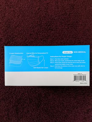 Disposable Face Mask 50-Count/Box (Brand New) for Sale in Cleveland, OH