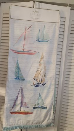 Gorgeous Coastal Sail boat table runner brand new for Sale in Rossmoor,  CA