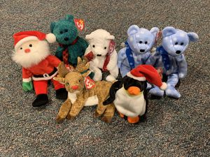 Ty Beanie Babies Holiday Christmas Winter Lot of 7 for Sale in Massapequa, NY