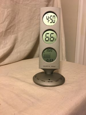 World Time Swivel Clock- Sharper Image for Sale in Medford, MA