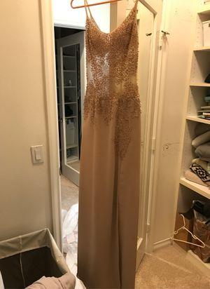 Champagne beaded dress for Sale in Rancho Santa Margarita, CA