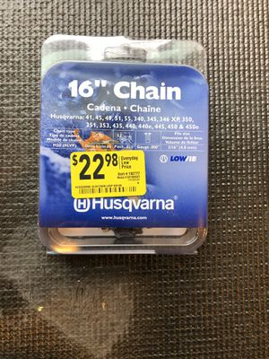 HUSQVARNA 16-inch Replacment Chainsaw Chain for Sale in Austin, TX