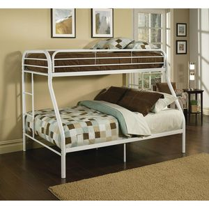 NEW BUNK BED WHITE TWIN FULL WITH MATTRESS ALL NEW for Sale in West Palm Beach, FL